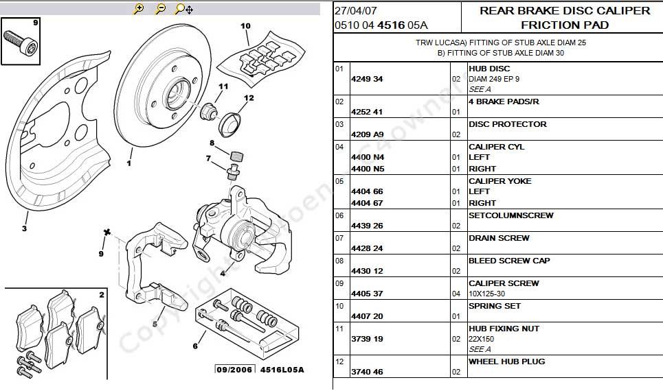 Content c articles rear brake assemblies