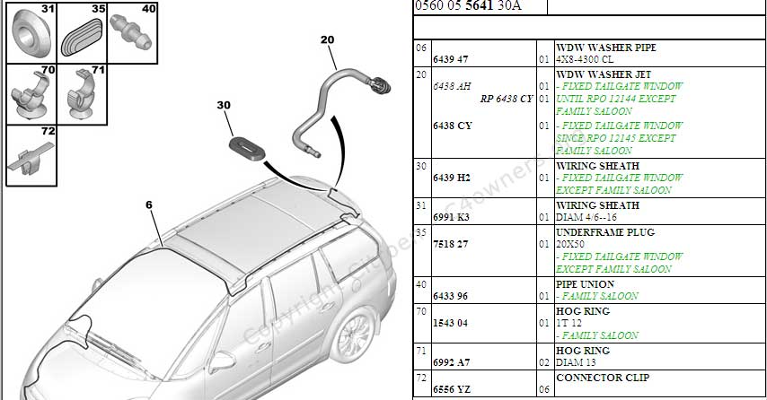 forums    c4 picasso problems and issues    part number for