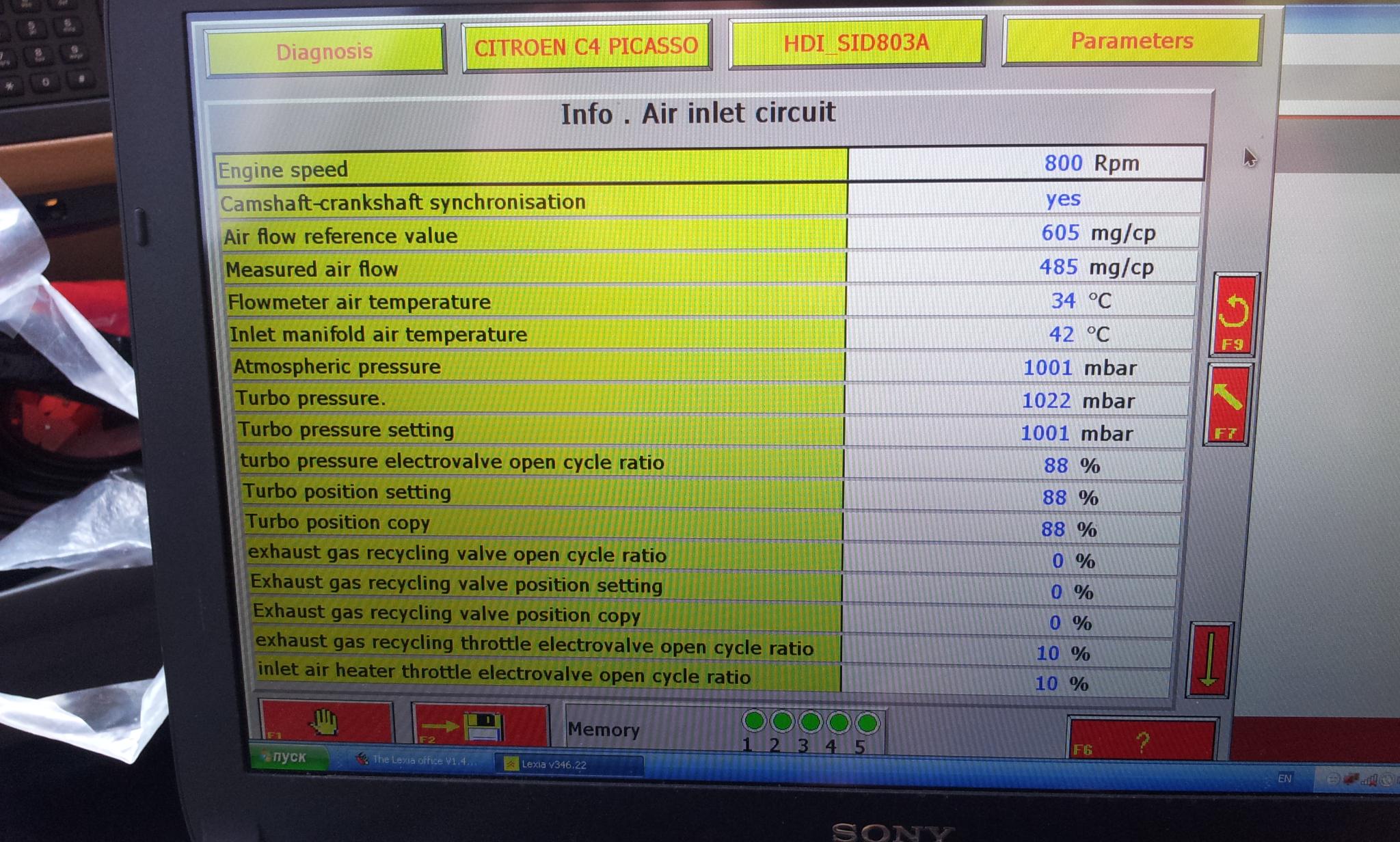 Ft on Egr Boost Sensor