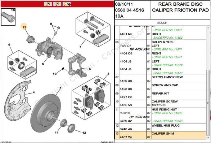 Forums    C4 Picasso And Grand Picasso General Questions    C4gp Rear Brakes - What Is This