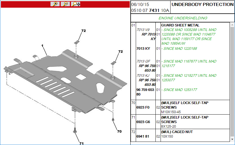 Forums    C4 Picasso And Grand Picasso General Questions    C4gp Engine Undertray - C4